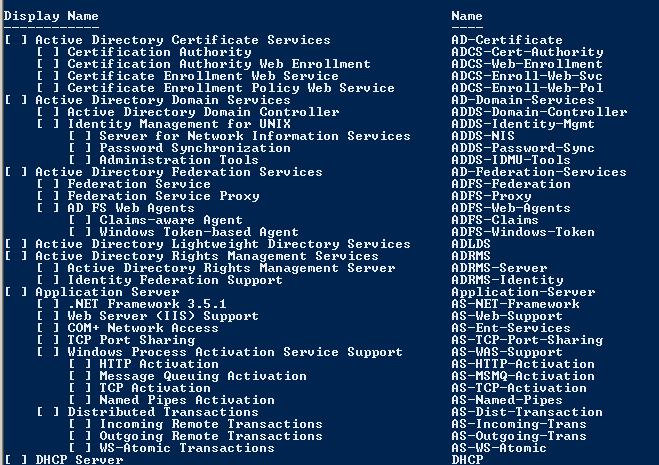 Features in Server 2008 R2