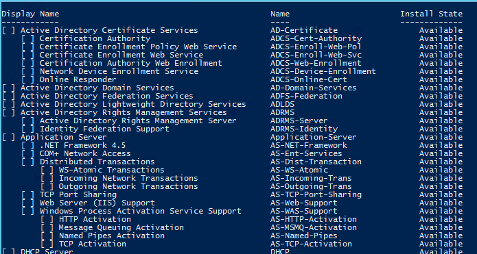 Features in Server 2012 R2